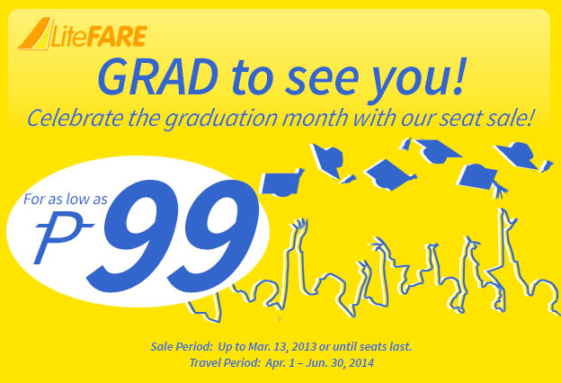 Graduation Month Seat Sale